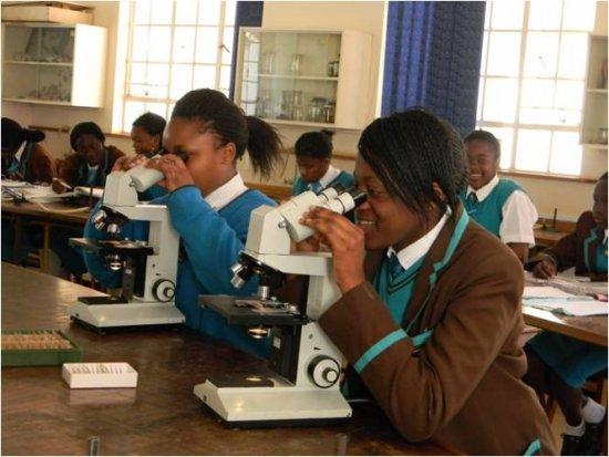 Brick Project students at Arundel Girls' School, Zimbabwe